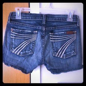 7 for All Mankind DOJO cutoff shorts size 24